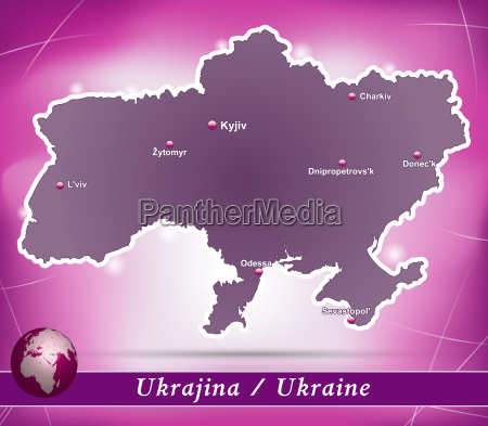 map of ukraine abstract background in