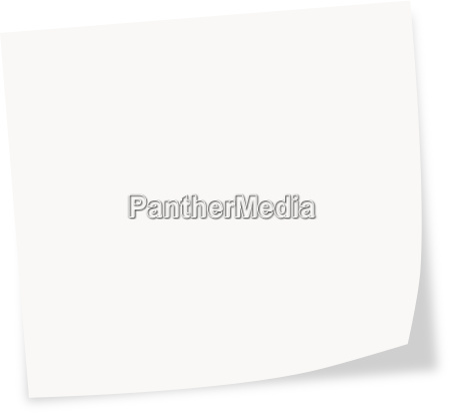 white stick note on a white