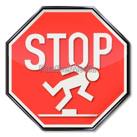 stop sign tripping hazard