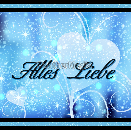 square card alles liebe