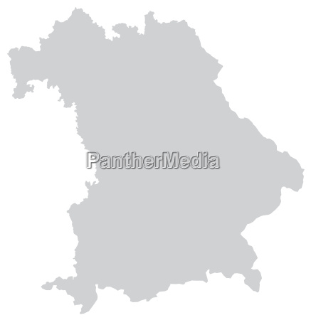 map of bavaria with borders in
