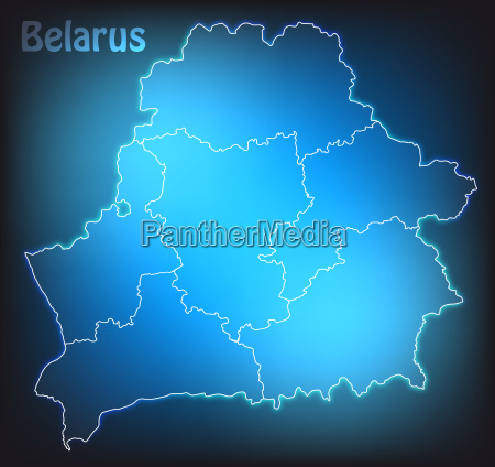 map of belarus with boundaries in