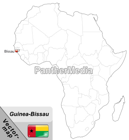 map of guinea bissau with capitals