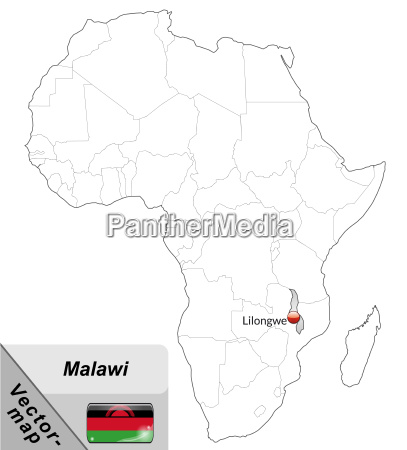 map of malawi with major cities