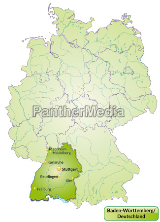 map of baden wuerttemberg with capitals