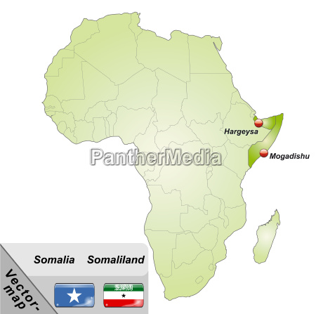 map of somalia with capitals in