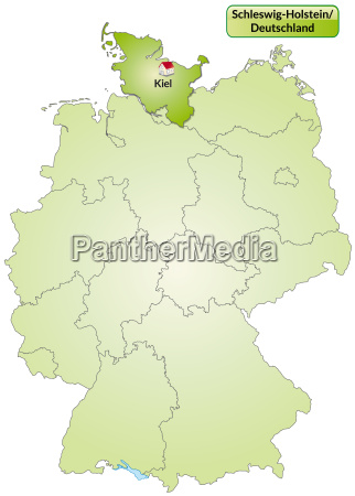 map of schleswig holstein with capitals