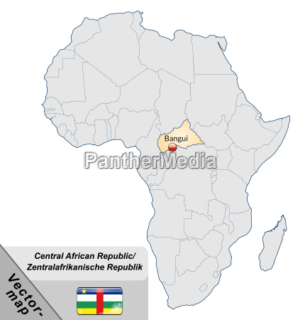 map of central african republic with
