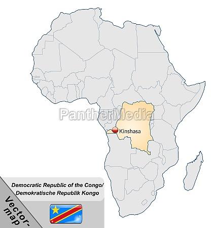 map of congo democratic republic with
