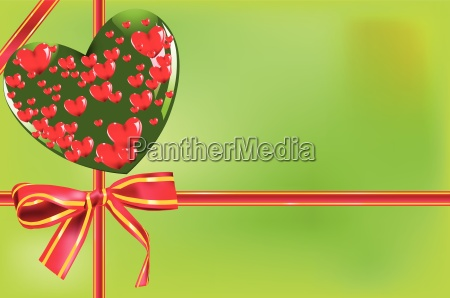gift card with bow and heart
