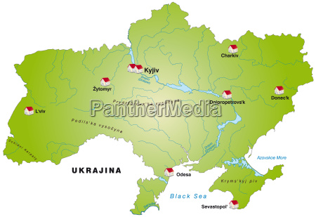 map of ukraine as infographic in