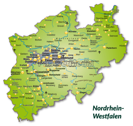map of north rhine westphalia as