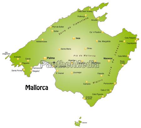 map of mallorca as an overview