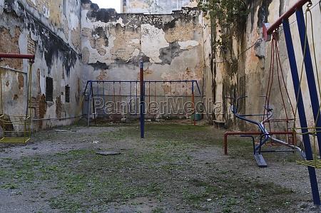 dilapidated playground