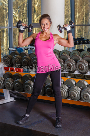 sports woman in the gym