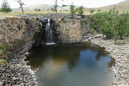 ulaan gol waterfall in orkhon valley