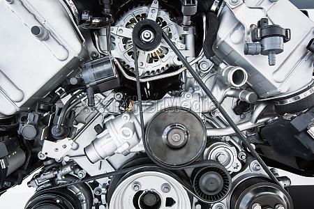 car engine modern powerful car