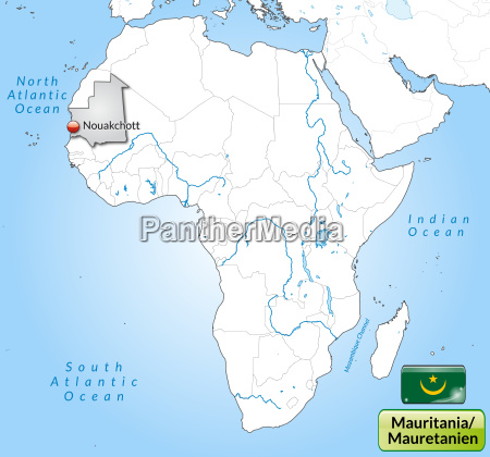 map of mauritania with capitals in