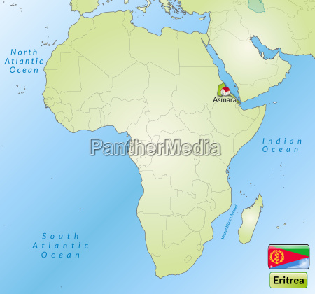 map of eritrea with capitals in