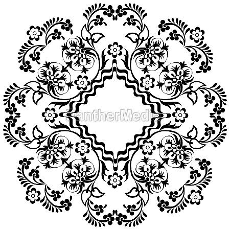 black oriental ottoman design twelve
