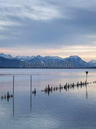 lake constance on sunset