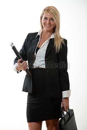 attractive twenties caucasian business woman