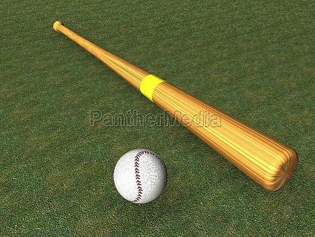 baseball bat an ball