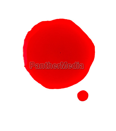 bloodstain on a white background