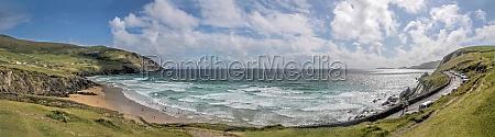 panorama of slea head beach