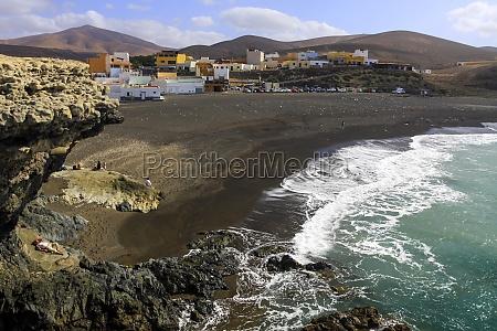 volcanic beach in ajuy