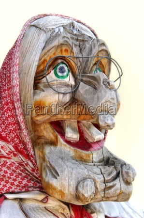 witch from woodcarving