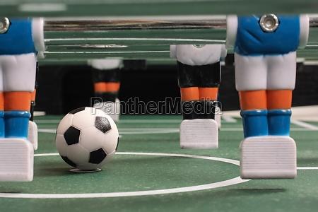 tabletop soccer start of play
