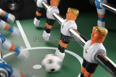 tabletop soccer action