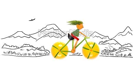 off road cyclist