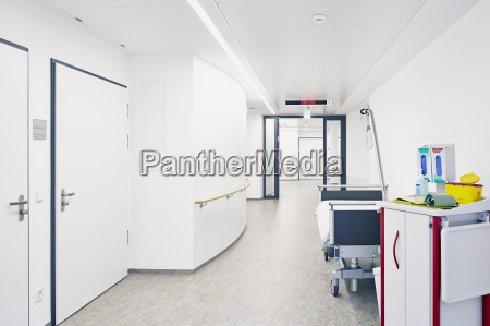 hospital bed hallway