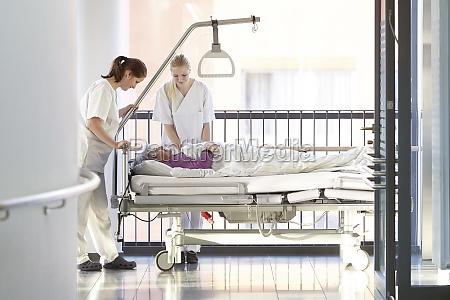 nurses patient hospital bed