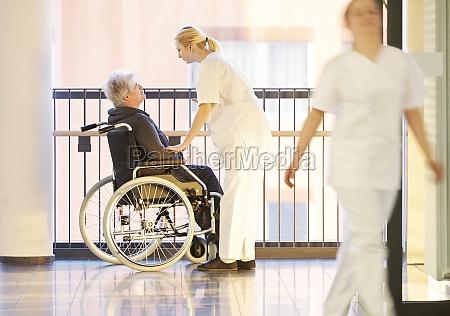 nurses wheelchair patient