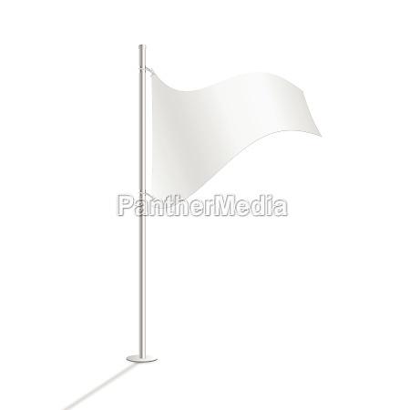 white flag vector illustration