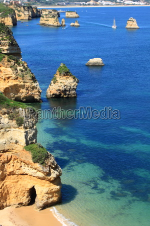 rocky cliffs on the coast of