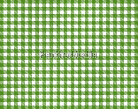 tablecloth with green white checkered pattern