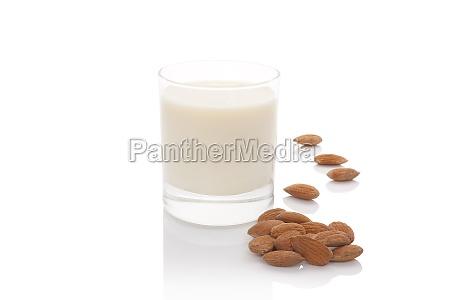 almond milk isolated