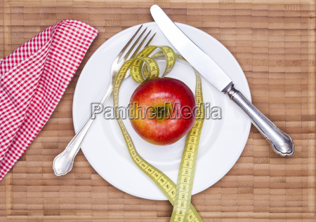 covered table and apple