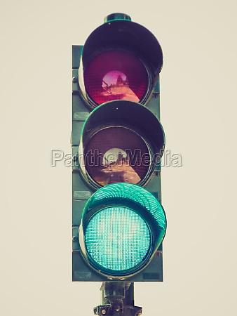 retro look green light