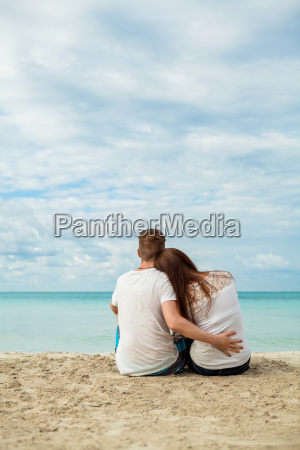 young happy amorous couple at the