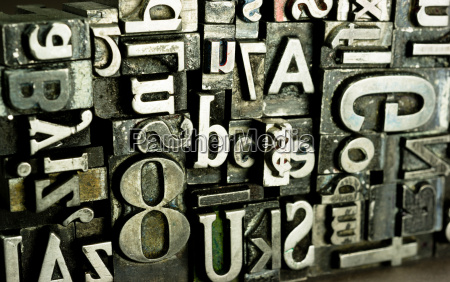 metal type printing press typeset obsolete