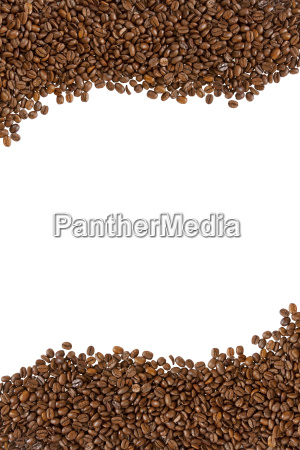 roasted coffee beans as a frame