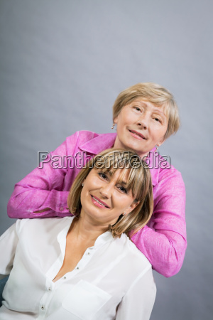 older adult happy woman mother with