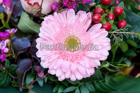 colorful mixed flower bouquet with different