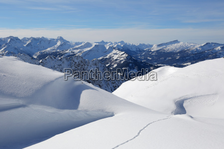 winter landscape mountains with snow