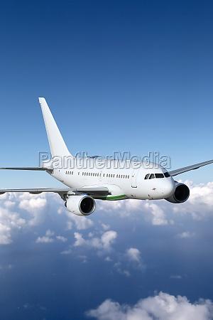 aircraft in flight aviation theme